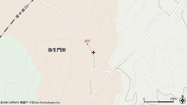 大分県佐伯市弥生大字門田542周辺の地図
