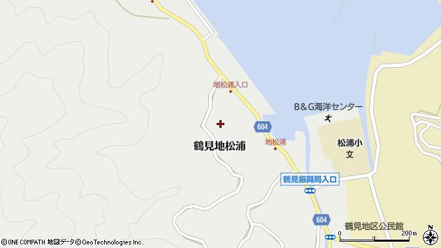 大分県佐伯市鶴見大字地松浦600周辺の地図