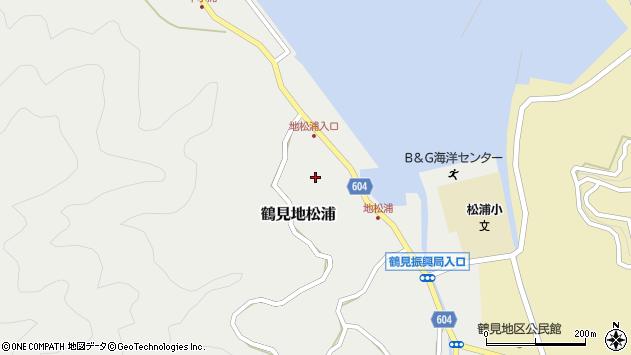 大分県佐伯市鶴見大字地松浦594周辺の地図