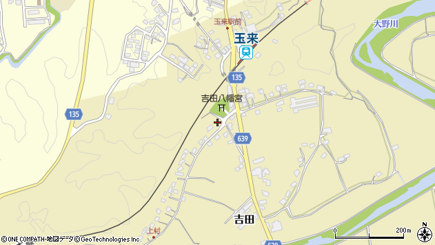 大分県竹田市吉田460周辺の地図