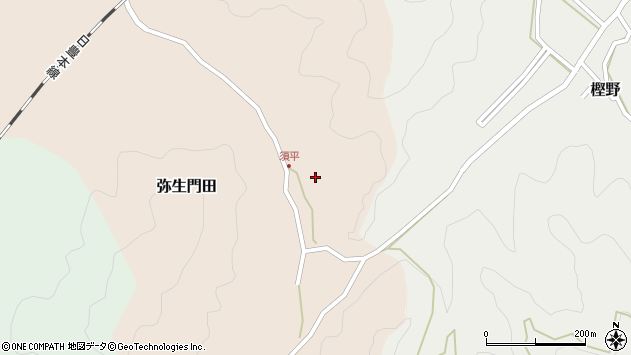 大分県佐伯市弥生大字門田567周辺の地図