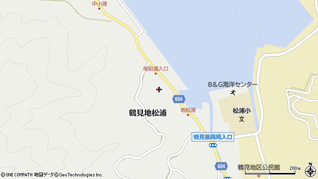 大分県佐伯市鶴見大字地松浦567周辺の地図