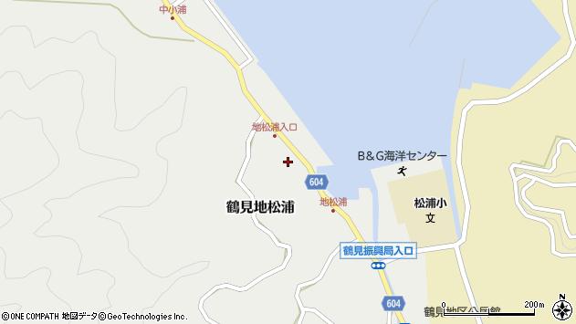 大分県佐伯市鶴見大字地松浦568周辺の地図
