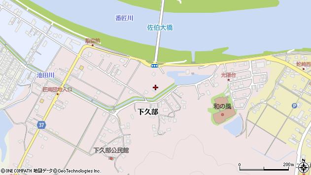 大分県佐伯市池田下久部区周辺の地図