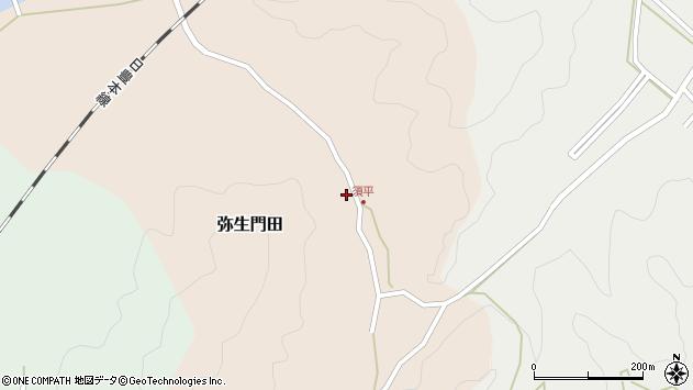 大分県佐伯市弥生大字門田258周辺の地図