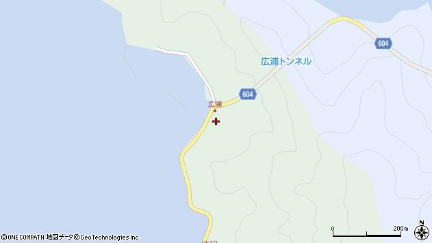 大分県佐伯市鶴見大字中越浦636周辺の地図