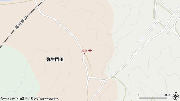 大分県佐伯市弥生大字門田579周辺の地図