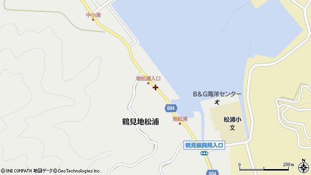 大分県佐伯市鶴見大字地松浦562周辺の地図