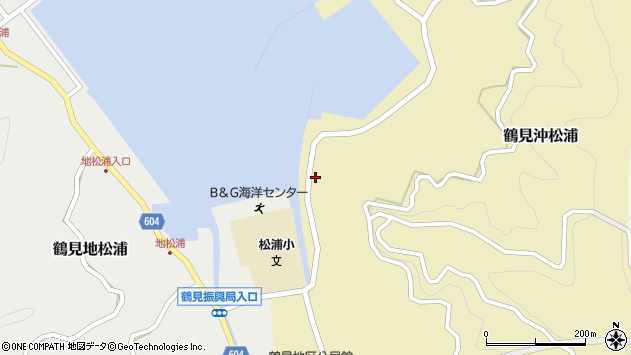 大分県佐伯市鶴見大字沖松浦1480周辺の地図