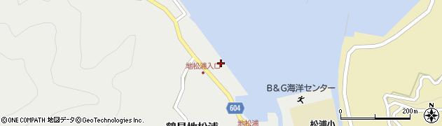 大分県佐伯市鶴見大字地松浦550周辺の地図