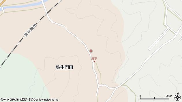 大分県佐伯市弥生大字門田263周辺の地図