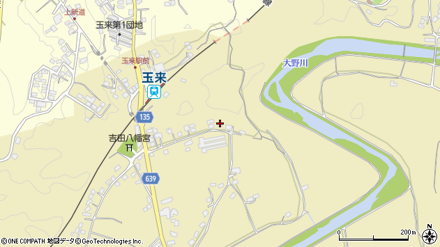 大分県竹田市吉田266周辺の地図
