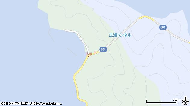 大分県佐伯市鶴見大字中越浦635周辺の地図