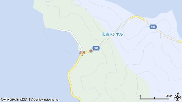 大分県佐伯市鶴見大字中越浦広浦周辺の地図