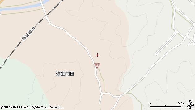 大分県佐伯市弥生大字門田584周辺の地図