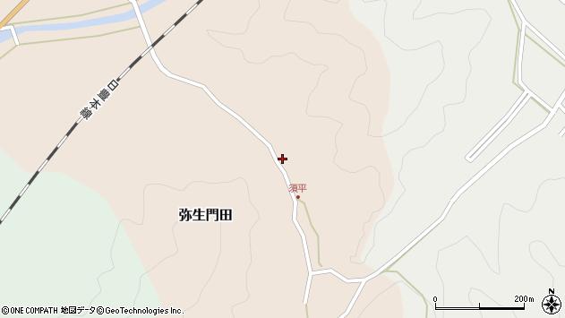大分県佐伯市弥生大字門田589周辺の地図