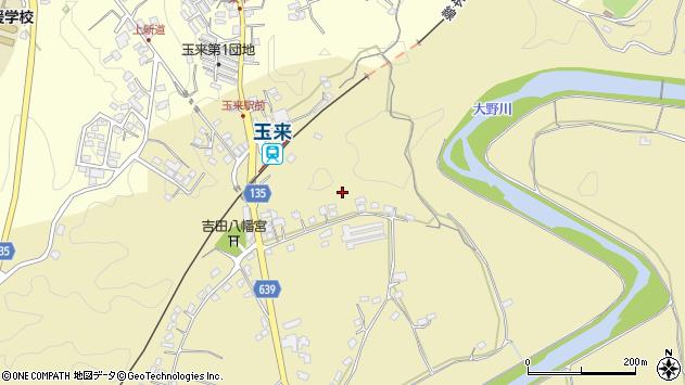 大分県竹田市吉田横枕周辺の地図
