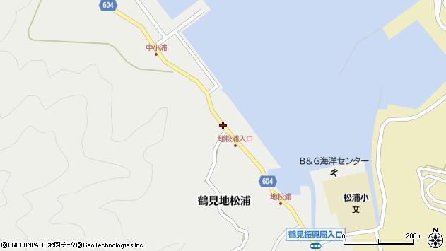 大分県佐伯市鶴見大字地松浦449周辺の地図