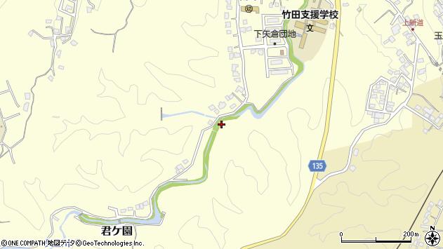 大分県竹田市君ケ園下矢倉周辺の地図