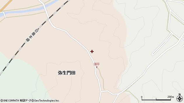 大分県佐伯市弥生大字門田597周辺の地図