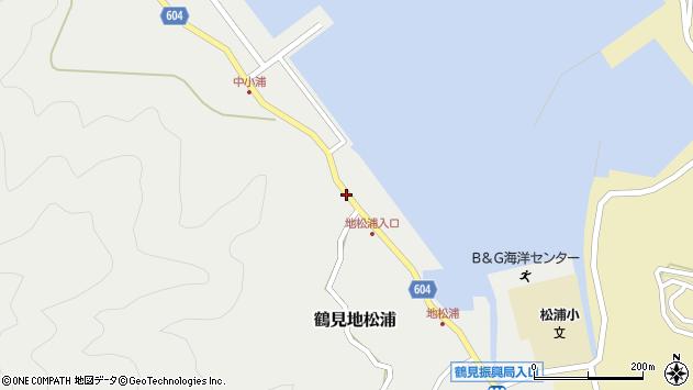 大分県佐伯市鶴見大字地松浦448周辺の地図