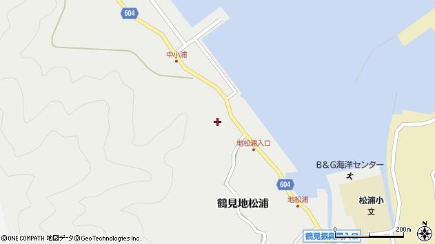 大分県佐伯市鶴見大字地松浦446周辺の地図