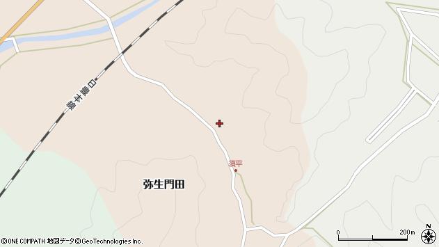 大分県佐伯市弥生大字門田593周辺の地図