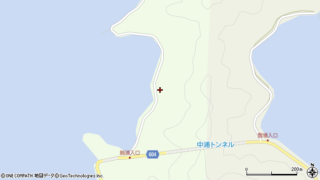 大分県佐伯市鶴見大字有明浦1368周辺の地図