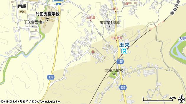 大分県竹田市吉田519周辺の地図