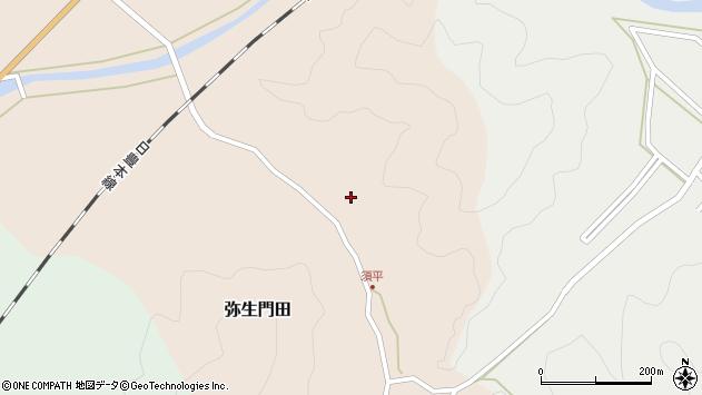 大分県佐伯市弥生大字門田611周辺の地図