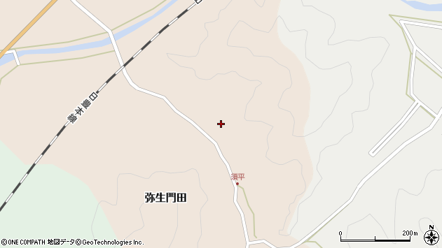 大分県佐伯市弥生大字門田612周辺の地図