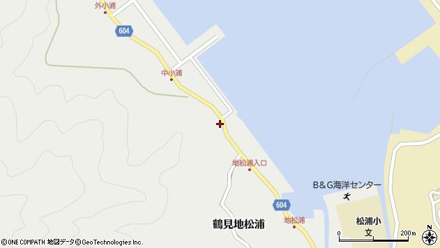 大分県佐伯市鶴見大字地松浦396周辺の地図