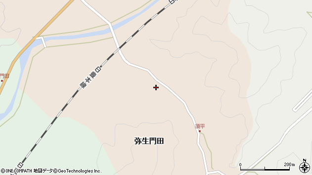 大分県佐伯市弥生大字門田207周辺の地図