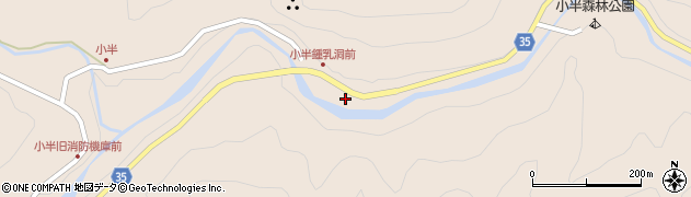 大分県佐伯市本匠大字小半1573周辺の地図