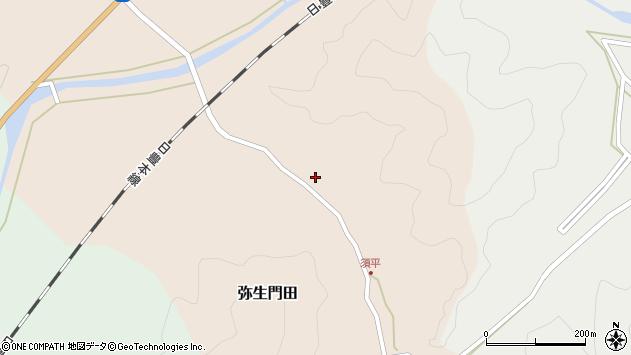 大分県佐伯市弥生大字門田224周辺の地図