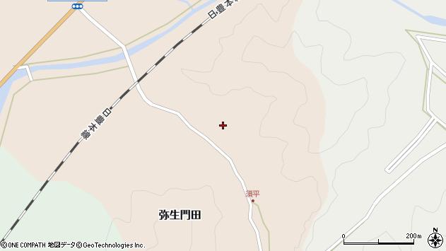 大分県佐伯市弥生大字門田617周辺の地図