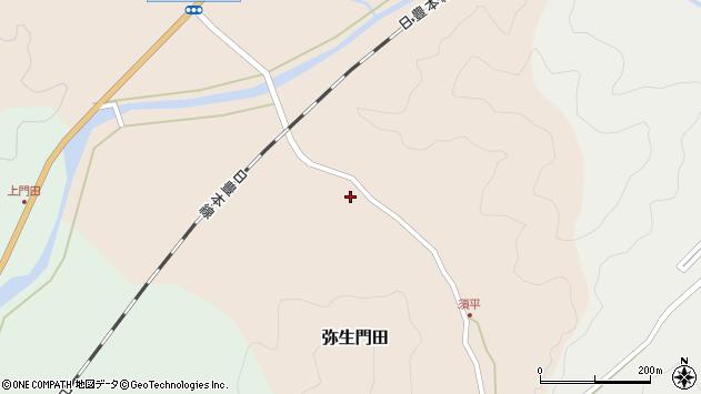 大分県佐伯市弥生大字門田214周辺の地図