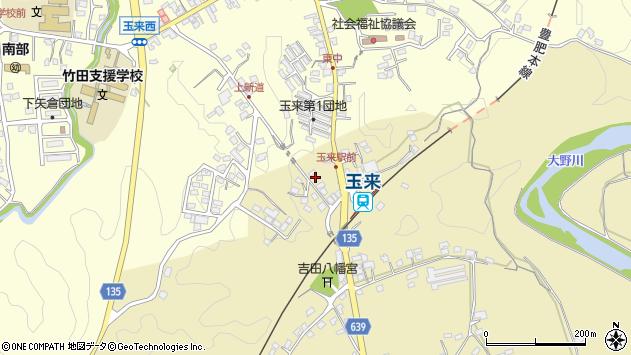 大分県竹田市吉田352周辺の地図