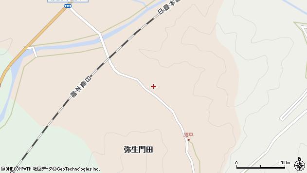 大分県佐伯市弥生大字門田222周辺の地図