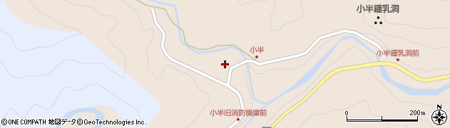 大分県佐伯市本匠大字小半652周辺の地図