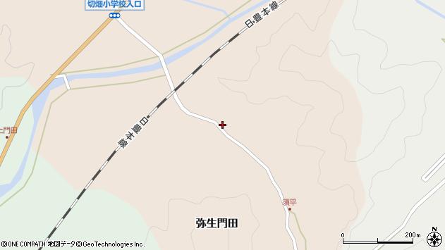 大分県佐伯市弥生大字門田211周辺の地図