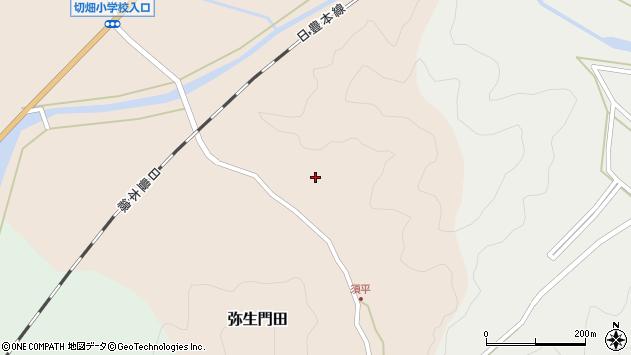 大分県佐伯市弥生大字門田619周辺の地図