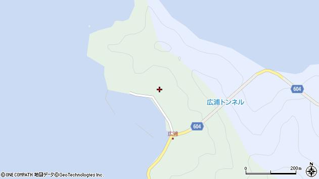大分県佐伯市鶴見大字中越浦642周辺の地図