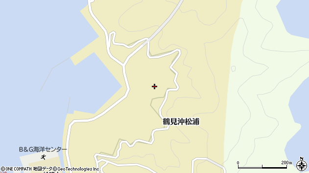 大分県佐伯市鶴見大字沖松浦1035周辺の地図