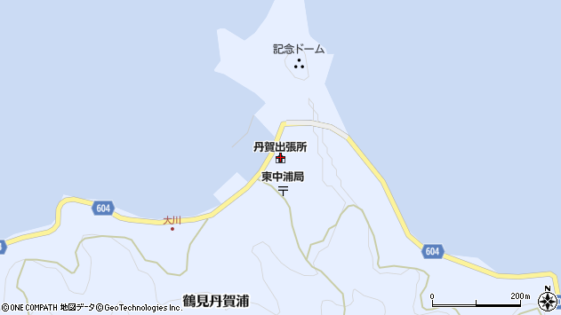 大分県佐伯市鶴見大字丹賀浦310周辺の地図