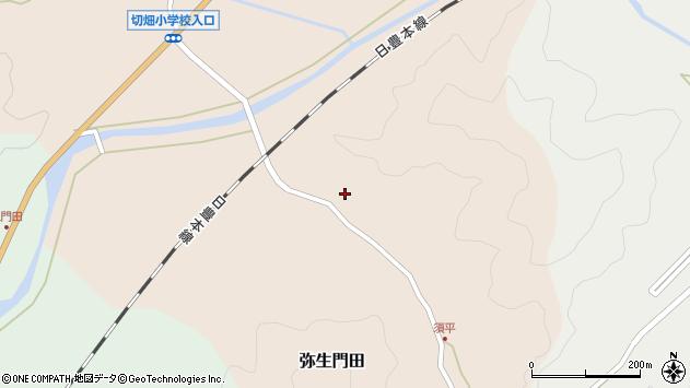 大分県佐伯市弥生大字門田666周辺の地図