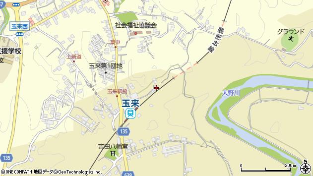 大分県竹田市吉田308周辺の地図