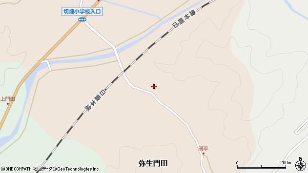 大分県佐伯市弥生大字門田672周辺の地図