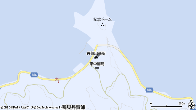 大分県佐伯市鶴見大字丹賀浦309周辺の地図