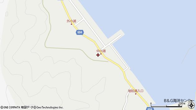大分県佐伯市鶴見大字地松浦274周辺の地図